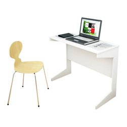 Sonax - Sonax Slim Workspace Desk in Frost White - Sonax - Writing Desks - D214NHL -Instantly have a place for work with this practical desk from the Hawthorn Collection. This item assembles in minutes creating a great surface for your computer, tablets or notebooks. The durable Frost White finish and design will fit into any decor setting with ease. Crafted with special attention to detail, it assembles in minutes, is small enough to easily move out of the way but large enough for nights of studying.