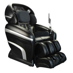 Osaki - Osaki 3D-Pro Dreamer Massage Chair Recliner (Black), Black - Experience the most human-like massage ever created by Osaki.  The newly enhanced 3D massage rollers are designed to massage wider and deeper than conventional massage chair rollers.  The 3D technology allows you to extend out or protrude the massage heads up to 8mm for a super-deep massage.  The 3D intensity has five different levels, ranging from normal to very strong.  The 3D technology reaches and massages acupuncture points with precision and depth, leaving you revitalized.Zero Gravity Position - a relaxing and stress-free position that minimizes the pressure along the back and spine  Accupoint Technology this chair features a variety of techniques to target accupoints with incredible accuracyMP3 Player Connection - play your favorite music with the built in MP3 connection and speakersWaist Airbag Squeeze - 2 airbags on each side of the waist squeeze the waist and massage the sides of your back for a deeper massageAirbag Seat and Hip Massage - six airbags squeeze the hips inwards and stretch the thigh musclesLumbar Back Heating - intensive lower back massage combined with heat and an air massage for the buttocksUpper Shoulder Massage - targeted massage pads relieve tension in the shouldersArm & Hand Massage top & bottom air bags apply a compression massage to the forearm and handFoot & Calf Airbag Massage - multiple air bags apply a compression massage to the legs and feet.  Pressure point balls apply a pinpoint massage to the bottom of the feet.10 Auto Massage Programs - You can then select from 10 preset unique massage programsWidth & Strength Adjustment - 5 intensity and 3 massage width settingsUnique Stretch Massage - firmly grips the calves and stretches by extending forward and pulling down the legsAuto-Computer Leg Scan - ensures the massage air bags are concentratedg on the correct areasQuad Roller Head Massage System - mimics the feel of human thumbs and fingers