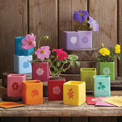 Year of Seeds - Oh my goodness, this is such a wonderful gift. This Year of Seeds set from RedEnvelope makes a wonderful hostess gift for the flower lover.