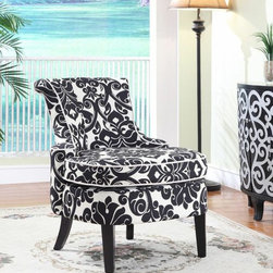 Diana Swoop Back, Cap Arm Accent Chair, Powell -