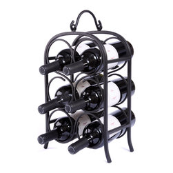 "Oenophilia - Wine Arch Counter Wine Rack - 6 Bottle - An architectural feature since ancient times the arch is designed to support substantial amounts of weight. Black finish. Holds 6 or 12 bottles.  6 bottle: 15.5""H x 10""W x 5.25""D8 bottle: 26.5""H x 10.5""W x 5.5""D."