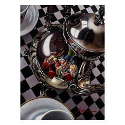 Acme Archives - Mad Hatter's Tea Party Large by Acme Archives - Mad Hatter's Tea Party Large by Acme Archives  -  Artist: Christian Waggoner  -  Size: 22 Inches Wide x 30 Inches Tall  -  Limited To 95 Pieces Worldwide  -  Medium: Giclee On Canvas  -  Signed by the artist  -  From Walt Disney's Alice In Wonderland  -  Acme Archives Item Number: WDINT170  -  Gallery Wrapped  -  Ready to Be Hung or Framed