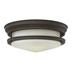 Hinkley Lighting - Hinkley Lighting 3302OZ Hinkley Lighting 3302CM Chrome 2 Light Indoor Flush Moun - Hinkley Lighting 330 Hadley Flush Mount Ceiling Light The Hadley is a retro-styled flush mount collection. The etched opal one piece glass shade features