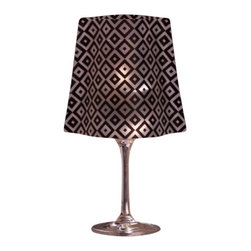 Modgy - Lumizu Wine Glass Shade Lucy - Creating instant elegance is easy with LUMIZU Wine Glass Shades. These wine glass lamp shades are crafted from durable, frosted plastic and slide easily over water-filled wine glasses. No assembly required. LUMIZU Wine Glass Shades fit over any standard