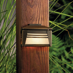 LANDSCAPE - LANDSCAPE 15110OZ Zen Garden Deck Light - The Zen Garden Collection expresses this balance in its minimalist designs combined with bold presentation. This style is updated Asian with a touch of the exotic. Crafted with a natural, earth-tone finish that patinas over time, the Zen Garden collection harmonizes with any backyard design to create a tranquil sanctuary. The durable construction and premium materials ensure years of peaceful enjoyment.Asian-inspired minimalist design for sutle but functional deck lighting.