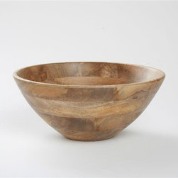 Tag Everyday - Malaya Deep Wooden Serving Bowl - Crafted of sustainable mango hardwood. Hand washColor: Brown. 5.75 in. H x 13.25 in. dia