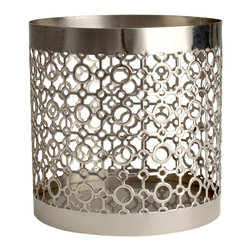 Tea Light Holder, Silver - Candleholders are really just pretty little containers that can double as holders for collections of matchbooks, binder clips, Q-tips or even change at the front door. If you have a few in different finishes, change them out per season for a new look.