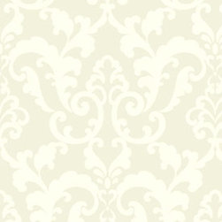 Wallpaper Worldwide - Forbes - Divine Damask Wallpaper, Grey, Offwhite - Material: Non-woven.