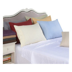 Bedding Web Store - Stripe Pillowcases Sets-Microfiber - Enjoy the astonishing feel of our microfiber pillowcases.  They are made with 100% microfiber which is designed to resist pilling and stay new through many washes.  This set is durable and strong yet very soft.