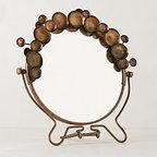 "Anthropologie - Bubble Trellis Vanity Mirror - Glass, iron9""H, 9"" diameterImported"