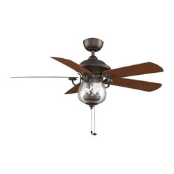 "Fanimation - Fanimation Crestford 52"" 5 Blade Outdoor Ceiling Fan - Blades & Light Kit Incl - Included Components:"