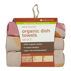 Full Circle Home Terra Towels - Evening Flight - Case Of 6 - 3 Pack - Set of 3 dish towels a nature-inspired theme: Evening Flight (pink)