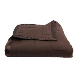 Luxor Linens - Arosa Hotel Collection Down Alternative Comforter, Chocolate, King - 100% Polyester