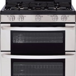 LG - LDG3035ST 6.1 cu. ft. Capacity Freestanding Gas Range With Double Oven  Superboi - LG strives to achieve the highest standard of great design by perfecting the concept style interface and finish of each of their products LG has acquired a long history of award-winning designs consistently delivering elegance and performance to thei...