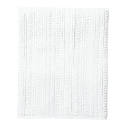 Serena & Lily - Chevron Jacquard Bath Sheet - How to wake up a basic white towel? With texture ours is a classic chevron design. Woven of lofty, absorbent and quick-drying cotton terry, these towels won't fade, fray or wear out. Here's to everyday luxuries.