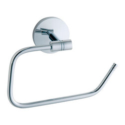 Studio Collection Euro Toilet Paper Holder - This Studio Collection Euro Toilet Paper Holder is simple to refill, and features an optional metal lid. Made of solid brass.