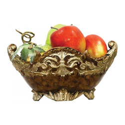 Sterling Industries - Scripted Mantle Dish - Scripted Mantle Dish