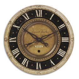 "Uttermost - Uttermost 06028 Auguste Verdier 27"" Wall Clock - Uttermost 06028 Auguste Verdier 27"" Wall Clock"