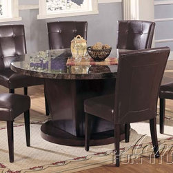 Acme Furniture - Danville 7 Piece Marble Top Table Set - 7003-7set - Includes Marble Top Table and 6 Side Chairs