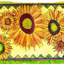 Caroline's Treasures - Flower - Sunflower Fabric Standard Pillowcase Moisture Wicking Material - Standard White on back with artwork on the front of the pillowcase, 20.5 in w x 30 in. Nice jersy knit Moisture wicking material that wicks the moisture away from the head like a sports fabric (similar to Nike or Under Armour), breathable performance fabric makes for a nice sleeping experience and shows quality.  Wash cold and dry medium.  Fabric even gets softer as you wash it.  No ironing required.