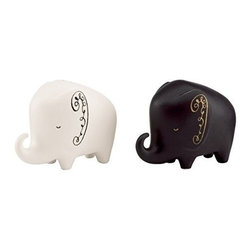 kate spade new york - kate spade new york Woodland Park Salt & Pepper - Elephant - Playful animal curiosities named for the famous city zoo tucked away in Seattle's Phinney Ridge, our Woodland Park Elephant salt & pepper shakers from kate spade new york are crafted of earthenware and perfect for adding a dose of delight to any table.