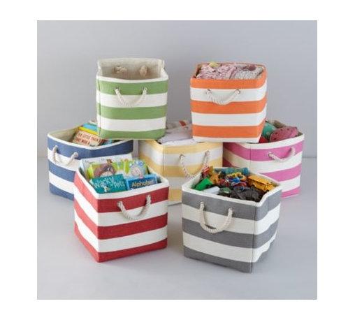 Stripes Around the Cube Bin -