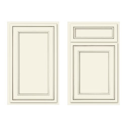 Canvas recessed panel - This overlay doorstyle looks like flush inset, a great way to get that vintage look without the pricetag.