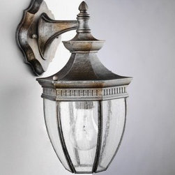 Kichler Warrington 936 Outdoor Wall Lantern - Tough cast aluminum construction makes the Kichler Warrington 936 Outdoor Wall Lantern a durable lighting accessory. Beautifully crafted with traditional style, it gives a classic touch to your outdoor decor. An attractive finish further enhances its visual appeal. You can use this light fixture to illuminate your porch, doorway or balcony, or use it as ambient lighting near outdoor seating area. Clear seedy glass diffuser gives optimum light output as well as adds to the lantern's charm.Kichler QualitySince 1938, Cleveland-based Kichler Lighting has been known for their innovative designs and excellent craftsmanship. Kichler is the world's leading decorative lighting fixture company and the winner of four ARTS Lighting Manufacturer of the Year awards. Kichler designers travel the world to discover the latest trends in exterior and interior style, colors, and designs. They then translate the best of those trends into fixtures that will bring beauty, pleasure, and light into your home. Kichler fixtures stand the test of time and are functional works of art that you're sure to treasure.