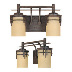 Designer Fountain - Mission Ridge 2-Light Bath Bar - 2-Light Bath Bar
