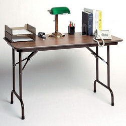 Correll Inc - High Pressure Standard Fixed Height Folding T - Finish: 24 in. x 60 in./WalnutFor moderate to heavy duty home, office, food service and commercial use. Weighs roughly 10% less than 0.75 high-pressure top tables. 0.625 in. high density particle board core with backer sheet. Same frame construction as 0.75 in. high-pressure. Pictured in Walnut. 18 in. W x 60 in. L x 29 in. H. 18 in. W x 72 in. L x 29 in. H. 18 in. W x 96 in. L x 29 in. H. 24 in. W x 48 in. L x 29 in. H. 24 in. W x 60 in. L x 29 in. H. 24 in. W x 72 in. L x 29 in. H. 24 in. W x 96 in. L x 29 in. H. 30 in. W x 60 in. L x 29 in. H. 30 in. W x 72 in. L x 29 in. H. 30 in. W x 96 in. L x 29 in. H. 36 in. W x 72 in. L x 29 in. H. 36 in. W x 96 in. L x 29 in. H