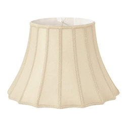 Royal Designs, Inc. - Scalloped Bell with Vertical Piping Designer Lampshade - This Scalloped Bell with Vertical Piping Designer Lampshade is a part of Royal Designs, Inc. Timeless Designer Shade Collection and is perfect for anyone who is looking for an elegant yet detailed lampshade. Royal Designs has been in the lampshade business since 1993 with their multiple shade lines that exemplify handcrafted quality and value.