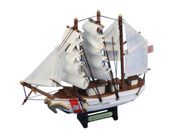 """Handcrafted Model Ships - USCG Eagle 7"""" - Wooden US Coast Guard Fishing Boat Model Ship - Sold fully assembled"""