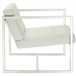 Modway - Hover Lounge Chair in White - EEI-263-WHI - Hover Collection Chair