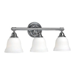 World Imports - World Imports Ava Bath 3-Light Bath Fixture with Glass Shades, Chrome (3433-08) - World Imports 3433-08 Ava Bath 3 Light Bath Fixture with Glass Shades, Chrome