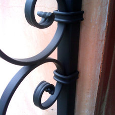 decorative ornamental wrought iron railings gates, san diego fences, furniture,