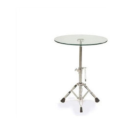 "Adesso - End Table - This table is a perfect fit for the eclectic home. It has a tempered glass table top, supported by an adjustable tripod base. With chrome plated legs, the center pole adjusts up and down from heights of 24'' to 28''. It will give any room a unique style. Features: -Tempered glass top.-Chrome plated legs.-Collection: Jazz.-Base Finish: Chrome.-Distressed: No.-Powder Coated Finish: No.-Gloss Finish: No.-Base Material: Metal.-Top Material: Glass.-Solid Wood Construction: No.-Hardware Material: Stainless steel.-Nesting Tables: No.-Non-Toxic: No.-UV Resistant: No.-Scratch Resistant: No.-Stain Resistant: No.-Lift Top: No.-Storage Under Table Top: No.-Drop Leaf Top: No.-Magazine Rack: No.-Built In Clock: No.-Drawers Included: No.-Hardware Finish: Brushed steel.-Exterior Shelves: No.-Cabinets Included: No.-Glass Component: Yes -Tempered Glass: Yes.-Beveled Glass: No.-Frosted Glass: No..-Casters: No.-Lighted: No.-Stackable: No.-Reclaimed Wood: No.-Adjustable Height: Yes.-Outdoor Use: No.-Swatch Available: No.-Commercial Use: Yes.-Recycled Content: No.-Product Care: Wipe clean with a dry cloth.-Built In Outlets: No.-Powered: No.Specifications: -General Conformity Certificate: No.-Green Guard Certified: No.-UL Listed: No.Dimensions: -Overall Height - Top to Bottom: 19""-28"".-Overall Width - Side to Side: 18"".-Overall Depth - Front to Back: 18"".-Drawer: No.-Cabinets: No.-Overall Product Weight: 30 lbs.-Legs: No.Assembly: -Assembly Required: Yes."