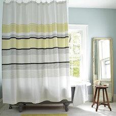 Gallery Stripe Shower Curtain   west elm