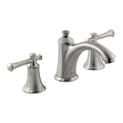 American Standard - Portsmouth Widespread Two Handle Bathroom Faucet in Satin Nickel - American Standard 7415.801.295 Portsmouth Widespread Two Handle Bathroom Faucet in Satin Nickel