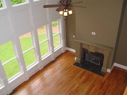 Traditional Family Room by AHB General Contractors