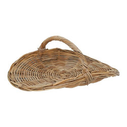Eco Displayware - Oval Semi Flat Rattan Basket in Natural - Great for closet, bath, pantry, office or toy and game storage. Earth friendly. 19 in. L x 21.5 in. W x 8 in. H (11.88 lbs.)These natural colored baskets add warmth and charm and keep you organized.
