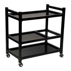 NOIR - Noir Furniture Aly Trolly, Distressed Black - NOIR Furniture - Aly Trolly, Distressed Black - GTAB667MT