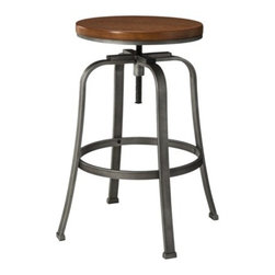 Dakota Adjustable Stool - This stool has great curves instead of straight lines.