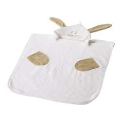 FABLER KANIN Towel with hood - Towel with hood, white