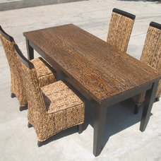 Traditional Dining Tables by Rattan and Wood