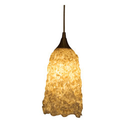 immerLit - Sculptural Porcelain Pendant Light, Elongated - Modern in it's 'complex simplicity', this fixture will be a standout accent in any space.