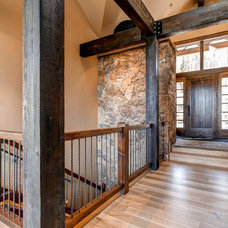 Rustic Hall by Pinnacle Mountain Homes