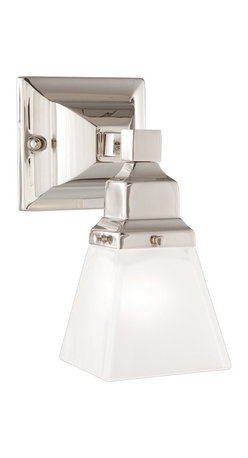 Hudson Valley Lighting - Hudson Valley Lighting 871-PN Gramarcy Square Nickel Wall Sconce - Hudson Valley Lighting 871-PN Gramarcy Square Nickel Wall Sconce