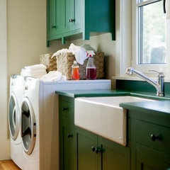 traditional laundry room by Allison Ramsey Architects