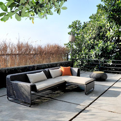 Lebello - Lebello Outdoor Sectional Sofa - MOD SP - The MOD SP split weave designed by Lebello is a luxury sectional modular outdoor sofa seating system. The split weave series features an elegant tight cross weaves on the seat and arm surface, while the backrest area has an open woven surface. MOD SP comes in 8 different modules, which allows endless configurations. A companion Club Chair and Club Sofa is also available to complement the set.