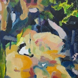 Garden Dwelling  (Original) By Jaclyn Meyer - As an organic expressionist, I am inspired by the relationships of natural forms and how these forms relate to our memories and experiences.  In Garden Dwelling, I explore vaguely figurative forms in their relationship to natural elements.